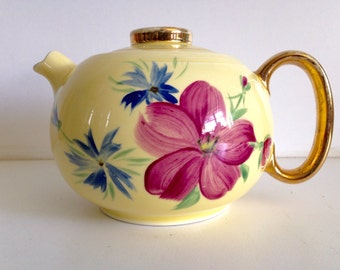 W.S. George Ranchero Shape Hand Painted Tea Pot