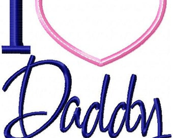 I Heart Daddy Personalized Shirt or Bodysuit