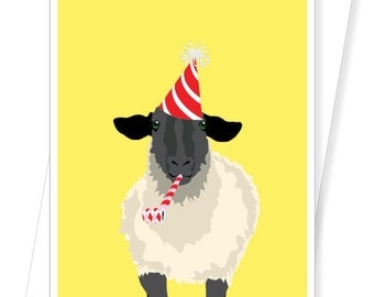Sheep - Funny Birthday Cards - D210