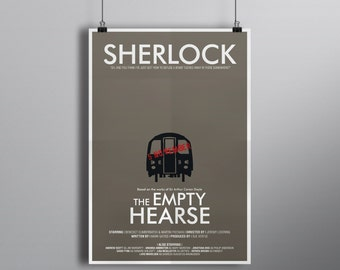 The Empty Hearse // Minimalist Alternative Mystery Poster // Typography and London Underground Carriage Illustration with Guy Fawkes Day