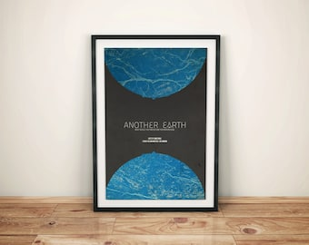 More Than One of Everything // Another Earth Alternate Movie Poster // Science Fiction Print with Earth and Space Shuttle Illustration
