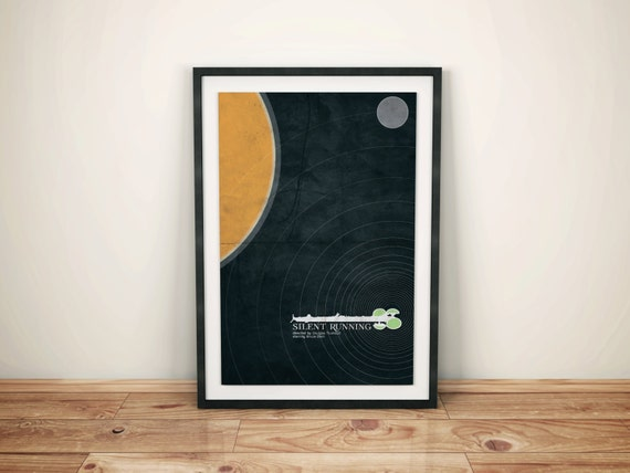 Conservationist Gone Mad // Silent Running Alternate Movie Poster // Cult Scifi Print with Dying Earth, Moon, and Space Garden