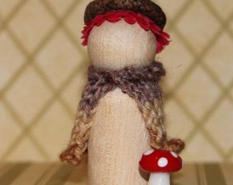 Woodland Gnome Peg Doll
