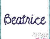 Beatrice Embroidery Font Instant Download