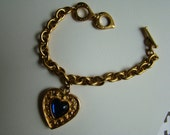 YSL Yves Saint Laurent Blue Heart Bracelet RESERVED FOR J.