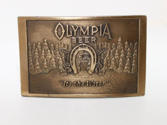 Olympia Beer Brass Belt Buckle