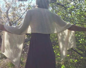 Made to order-Sun shawl, summer shawl, natural unbleached cotton or organic cotton