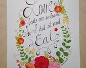 Love Bade Me Welcome - original painting -