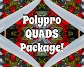 QUADRUPLE Polypro Set: Clear, Colored, or Taped! // Four Full Size Hula Hoop Package // Custom Tubing and Diameters!