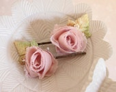 50% off marked price use code DIS50 - Rose Hair Clips, Pretty Rose Bobby Pins, Bridesmaids Hair Accessories, Bridesmaids Pink Rose Hair Pin