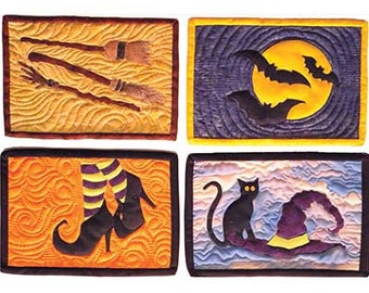 Witchy Halloween Snack Mats Pattern