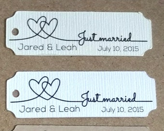 50+ Small Wedding Favor Tag, Personalized Gift Tags or Shower Favor Tags, Custom Labels, Custom Gift Card No. 32