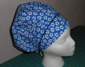 BOUFFANT Surgical Scrub Hat  w/Decorative Piping..FREE U.S. Shipping