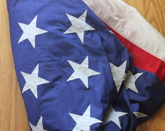 Vintage 60's American US Navy 50 Star Flag ,Type 1 Class 1, 5' x 8'6""