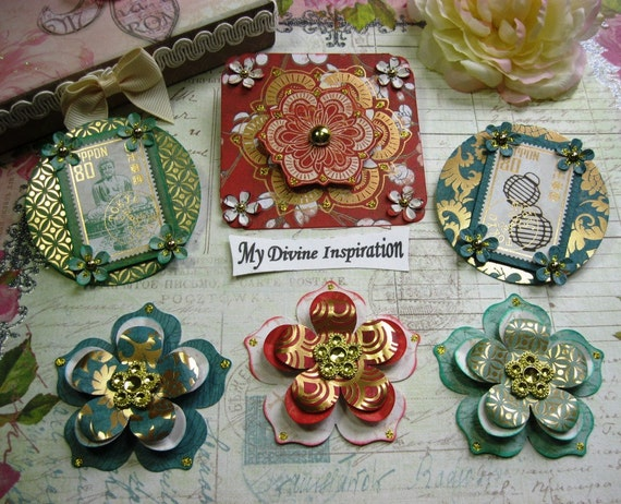 far east handmade scrapbook embellishments paper