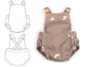 Summer romper sewing pattern // instant download // photo tutorial // sizes preemie to 3T // #87