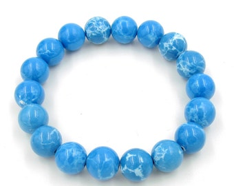 Mixed Material Beads Bracelet Wrist Stretch 10mm  T3257