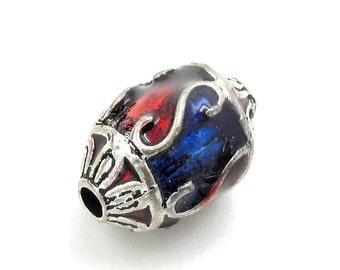 1Pc Antique Style Alloy Metal Bead Finding 15mm*10mm  ja644