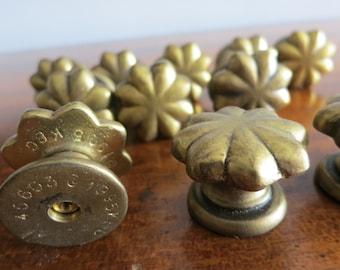 Vintage Brass Star Cabinet Pull Set