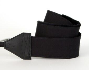 SLR Camera Strap - Solid Black