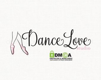 premade ballet dance studio logo design bespoke logo design boutique logo design graphic design photography logo business branding logo