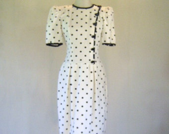 1980s New Wave Polka Dot Dress