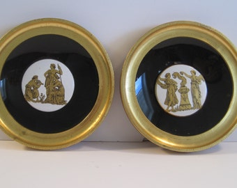 S P Solomons Decorative Art Framed Porcelain Tiles