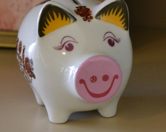 Piggy Bank Boho Chic Gift Paris Christmas New Year Resolution