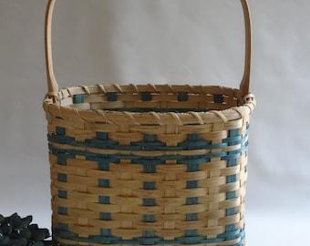 Magazine Basket / Storage Basket / Handwoven Basket