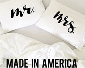 Wedding Gift Couples Pillow Cases Mr Mrs Pillow Bride and Groom Wedding Gift His and Hers Pillows Couples Pillowcases