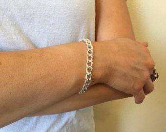 Silver Medium Chain Bracelet