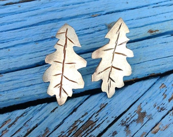 Botanical gardens collection Sterling silver Oak Leaf earrings. Gardening gifts, leaf earrings, flower garden, gifts for gardeners, woods