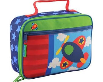 Stephen Joseph airplane lunch box personalized, monogrammed, lunch bag