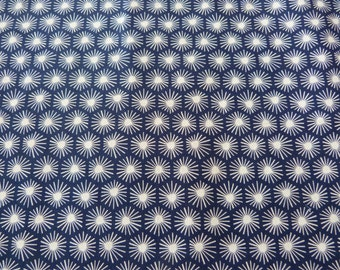 Morn's Rays in Navy,  Aubade Collection by Michelle Engel Bencsko for Cloud 9 Fabrics 1/2 yd