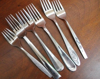 Vintage Stainless Silverware Flatware FORKS Mix and Match  photo props BIN 35