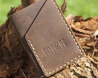 Mens Wallet Leather Fathers Day Special Free embossing