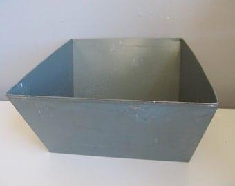 Vintage Industrial Steel Storage Bin Vertiflex File Container