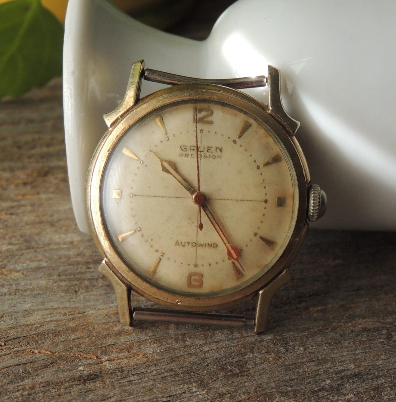 sale vintage gruen precision watch working vintage watch. Black Bedroom Furniture Sets. Home Design Ideas