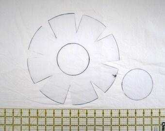 Template for mini fabric bowl