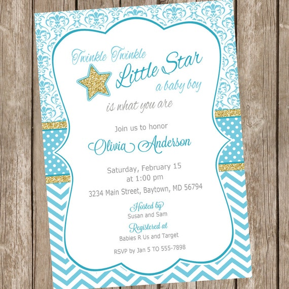 twinkle twinkle little star baby shower invitations star baby shower