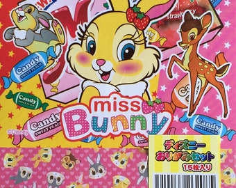 Disney character Miss bunny  Origami paper set (chiyogami)