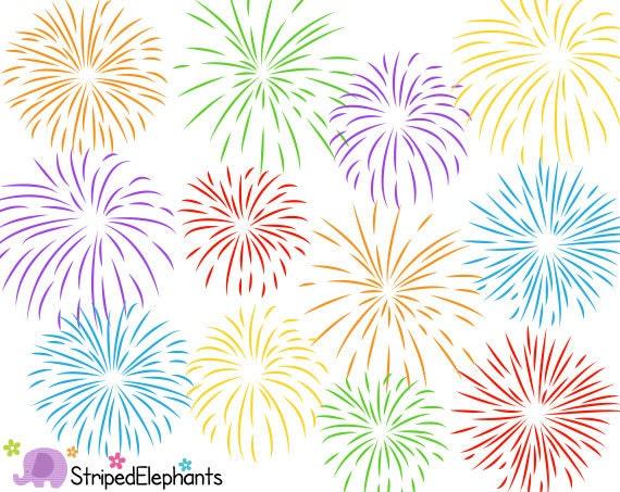 Firework Clip Art Digital Clipart Instant Download