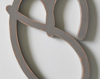 Wooden Letter B - 12 inch Nursery Letter - Wood Letters - Cut Out Letter B