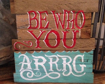 Pirate Reclaimed Wood Sign
