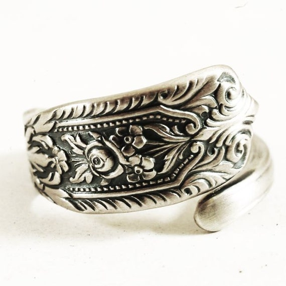 Alternative Silver Wedding Gifts : Wedding Ring Alternative Edwardian Rose Sterling Silver Spoon Ring ...