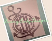 Personalized Anchor Vinyl Decal