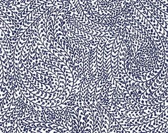 Indigo Vine Maze CX6774-MIDN-D by Michael Miller.