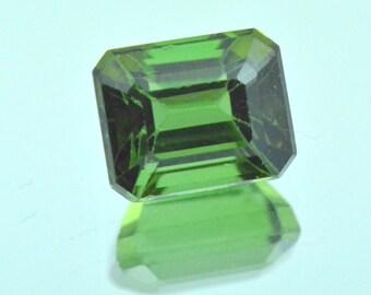 2.78ct 8.2mm Chrome Green Tourmaline Cushion cut 8.2 by 6.6 by 5.6mm
