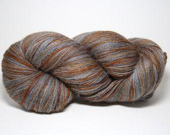 Hand Dyed Royal Baby Alpaca Yarn Lace Weight 1675 yards Prairie Dawn