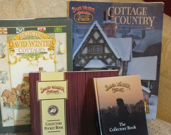 ON SALE 4 David Winter Cottages Books - Collecting, Collectors Guild, Collectors Pocket Book and Collectors Book
